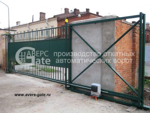 Комбинированные откатные ворота решетка