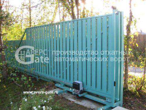 Откатные ворота деревянное заполнение