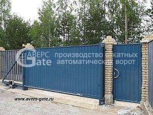 Ворота откатные с отдельно стоящей калиткой