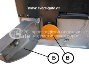 Ручка разблокировки электропривода