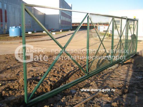 Ворота из сетки гиттер откатные