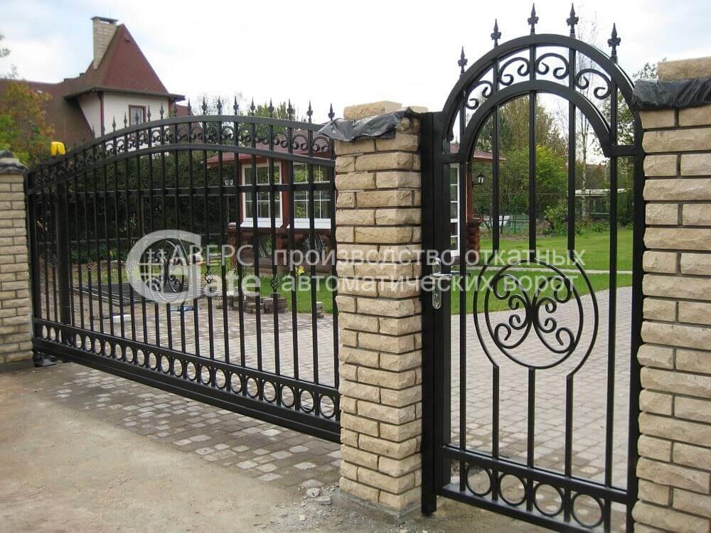 Кованые откатные ворота Пушкин