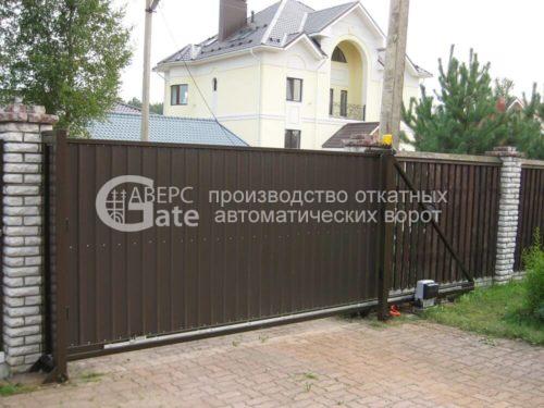 Ворота откатные Кузьмоловский