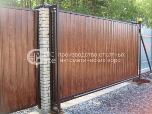 Откатные ворота в Белоострове